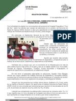 21/09/11 Germán Tenorio Vasconcelos actualiza Sso a Personal Sobre Efectos de Las Drogas en El Cerebro