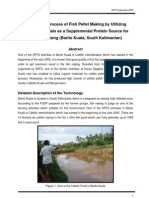 The Simple Process of Fish Pellet Making by Utilizing Organic Materials as a Supplemental Protein Source for Catfish Raising (Full Document)