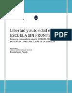Libertad y Autoridad en La ESCUELA SIN FRONTERAS - Convocatoria Definitiva