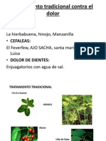 Tratamiento Tradicional Contra El Dolor en Sierra y