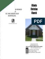 May 19, 2013 Church Bulletin