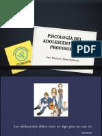 PSICOLOGÍA DEL ADOLESCENTE PARA PROFESORES
