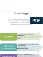 Aborto, Criterio Legal