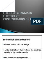 Effect of Changes in Electrolyte Concentration on Heart