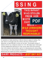 Missing calves - Say NO to dairy products