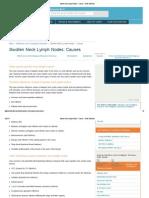 Swollen Neck Lymph Nodes - Causes - Better Medicine