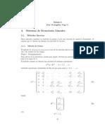 6. Sistemas de Ecuaciones Lineales. Métodos Directos