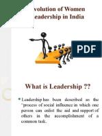 Evolution of Women Leadership in India