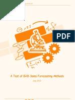 Forecasting Methods White Paper