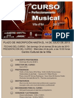 V Curso de Perfeccionamiento Musical Ciutat d'Ibi 2013 - Final