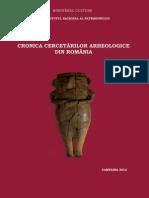 cronica cercetarilor arheologice campania 2012