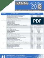 Calendar Toplink 2013