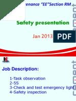 Safety on Jan 2013