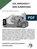"""Material de referencia sel seminario """"Tierras, recursos y soberanía alimentaria"""". Pobreza, mercados y soberanía alimentaria por Encarni Castillo"""