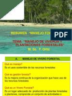 Resumen Manejo Vivero y Plantaciones