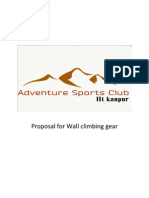 Proposal for Wall Climbing Gear