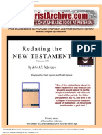 Redating the new testament. Robinson