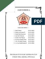 Konsep Amenorrhea