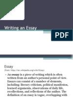 Writing an Essay