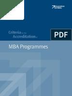Accreditation MBA Critieria