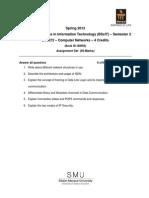 BT0072 Assignment Spring 2013