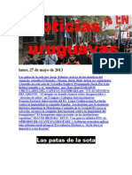 Noticias Uruguayas Lunes 27 de Mayo Del 2013