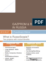 27 May (Webinar) Russia Energy Focus – Gazprom and Rosneft