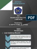 Presentation Referat Sindrom Maarfan(1)