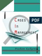 Cases in Management