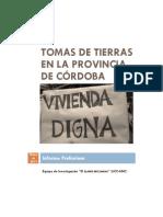 TOMAS DE TIERRAS EN LA PROVINCIA DE CÓRDOBA