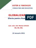 Globalizarea - Efecte Pentru Romania