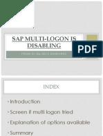 Sap Multi Logon Disable