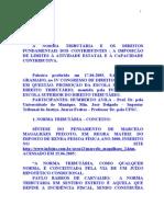 Artigo - A Norma Tributaria e Os Direitos Fundamentais Dos Constribuintes - STJ