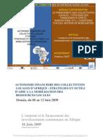 L'emprunt et le financement des investissements communaux en Afrique