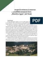 14 Criterii Si Concepte de Restaurare Si Conservare a Ansamblului Monument Istoric Manastirea Agapia, Jud. Neamt