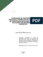 Reciclagem de residuos e aplicação em argamassas e concretos