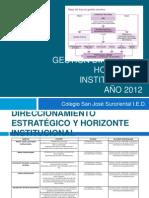 Gestión directiva y horizonte institucional