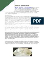 CRISTALES   PIEZOLECTRICOS