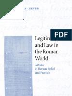 Legitimacy and Law in Roman World