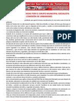 Propuestas Presentadas Por El Grupo Municipal Socialista