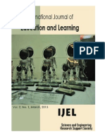 International Journal of Education and Learning (IJEL), Vol. 2, No. 1, March, 2013