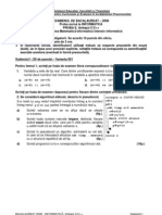 Varianta I bac informatica 2008