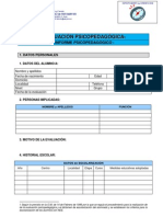 INFORME Evaluación psicopedagógica - IES Sotomayor