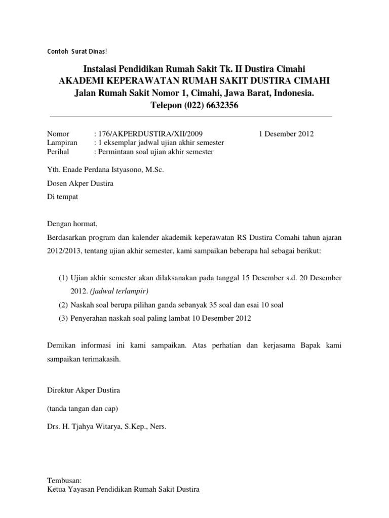 Contoh Surat Dinas 1