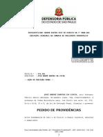 Petição - pedido de providências - violência contra preso