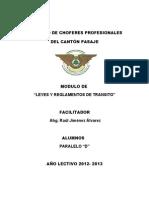 Informe Ley y Reglamento