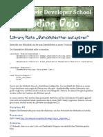 Library Kata Dateidubletten aufspüren