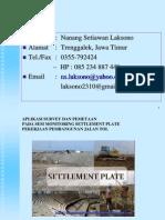 Presentasisurvey Settlement Plate
