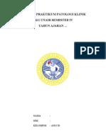 contoh laporan prakPK