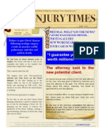 New Newsletter! NY Injury Times JUNE 13'